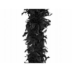 Boa z piór, czarne 180cm