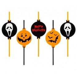 """Słomki z medialionem """"Halloween"""""""