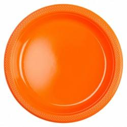 Talerzyki plastikowe pomarańczowe