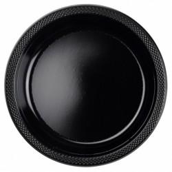 Talerzyki plastikowe czarne