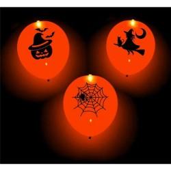 Balony świecące LED straszne party, 4 szt.