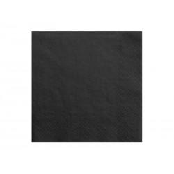 Serwetki czarne, 33x33cm, 20szt.