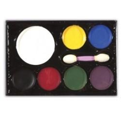 Farby 7 kolorów do twarzy