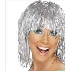 peruka foliowa, srebrna