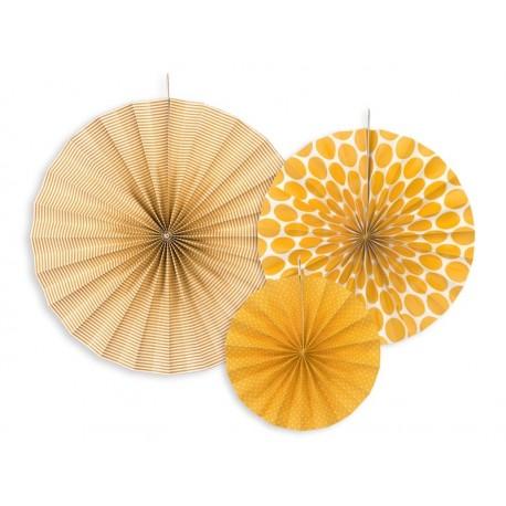 Rozety dekoracyjne, 3szt pomarańcz