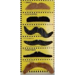 Sztuczne wąsy samoprzylepne- zestaw GD 6szt