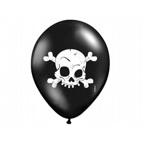 """Balony 14'' Pastel Black """"Czaszka"""""""