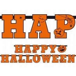 "Baner ""Happy halloween"" dynia+pająk"