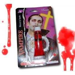 Zęby wampira z krwią