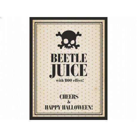 """Etykieta na butelkę """"Beetle juice"""", 10 szt."""