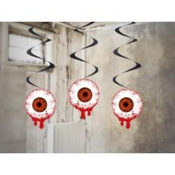 """Krwawe świderki """"Oczy"""", 60 cm, 3 szt."""