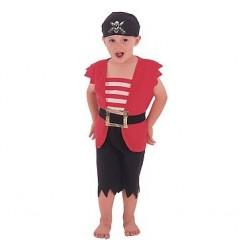 Strój Pirat czerwony roz.92/104