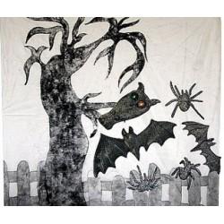"""Kurtyna """"Halloweenowy pejzaż"""""""