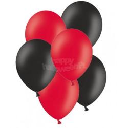 """Balony gumowe 14"""", czerwone i czarne 10szt"""