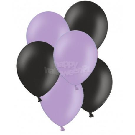 """Balony gumowe 14"""", fioletowe i czarne 10szt"""