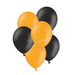 """Balony gumowe 10"""", pomarańczowe i czarne 10szt"""